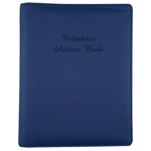 TELEPHONE ADDRESS 6 RING BINDER A5 NAVY BLUE