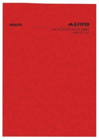 MILFORD ACCOUNT BOOK A4 MINUTE