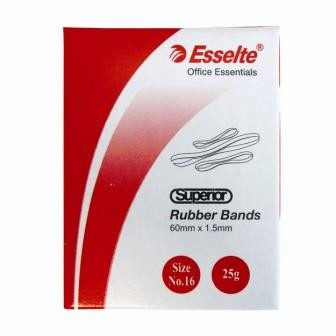 Esselte Superior Rubber Bands 25gram Box Size 12