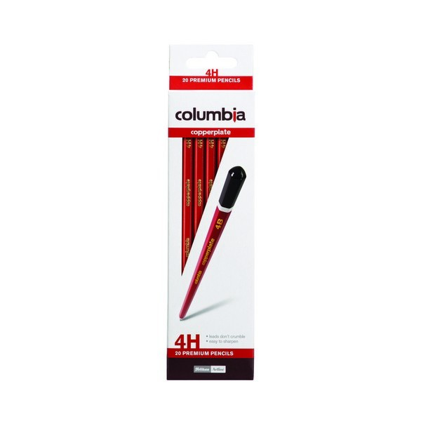 Columbia Hexagonal 4H Copperplate Lead Pencils Box of 20 (Min Order Qty 1)