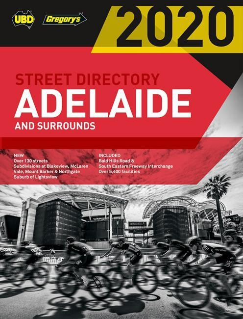 Adelaide & Surrounds 2020 Street Directory #58 UBD/Gregory's (Min Order Qty 1)