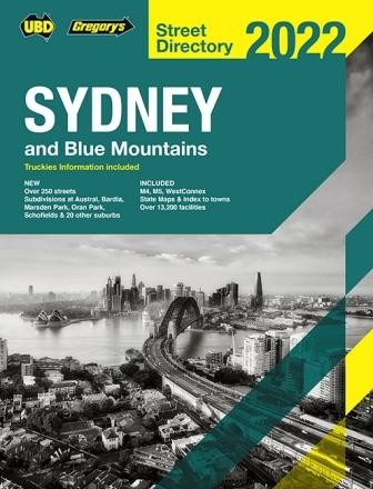 Sydney and Blue Mountains Street Directory 2022 Edition 58 (Min Order Qty 1)