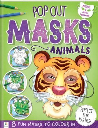 Pop Out Masks Animals (Min Order Qty 6)