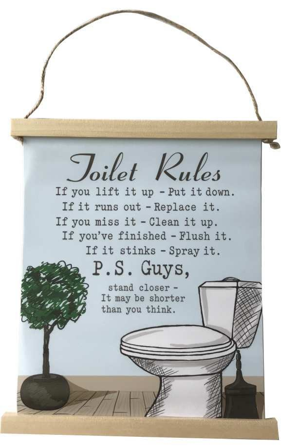 Waymore Distribution - Toilet Rules Canvas - Other