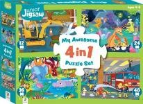 Junior Jigsaw: My Awesome 4 in 1 Puzzle Set (Min Order Qty 2)