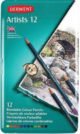 Derwent Pencils Artist Tin of 12 (Min Order Qty 1)