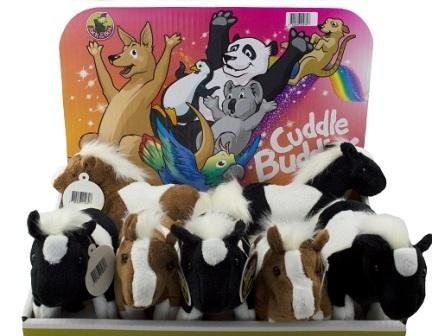 Cuddle Buddies Western Horses - DIsplay of 12