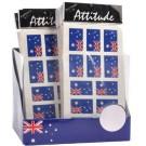 AUSTRALIA DAY FLAG TATTOOS - COUNTER CUBE OF 60 PACKS