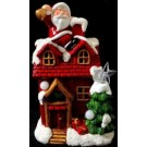 Ceramic Christmas House LED 21cm (Order in Qty's of 2)
