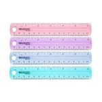 Westcott Coloured Plastic 15cm Ruler Assorted Colours (Min Order Qty 2)