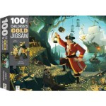 100 Piece Children's Gold Jigsaw Puzzle Pirate Treasure (Min Order Qty 2)