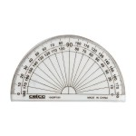 Celco  10cm 180deg Clear Protractor  Box of 50 (Min Order Qty 1 Box)