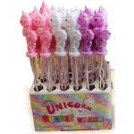Bubble Wands 36cm Unicorns Assorted Colours Display of 24 (Min Order Qty 1)
