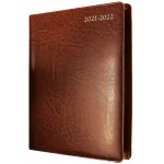 """Collins Elite Financial Year 2021-2022 Diary Quarto Week to View Wiro Chestnut """""""" SPECIAL Order Item; Min Order Qty: 5 """""""""""