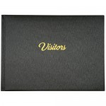 Visitors Book Black with Gold Foil 265 x 195mm (Min Order Qty 2)