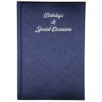 BIRTHDAY BOOK DARK BLUE w/ PADDING & SILVER EMBOSS 130 x 190mm