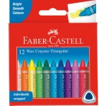Faber Castel Jumbo Wax Crayons Pack of 12 (Min Order Qty 2)