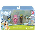 Bluey Friends 4 Pack Figurines S3 (Min Order Qty 2)