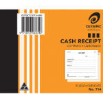Olympic Carbonless Duplicate Cash Receipt Book No. 714 125x100 50 Leaf (Min Order Qty 1)