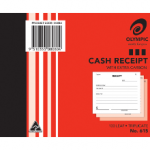 Olympic Carbon Triplicate Cash Receipt Book No. 615 100x125 100 Leaf (Min order Qty 1)