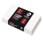 Olympic System Card 75x125 White Plain Pk100 (Min Order Qty 2)
