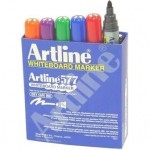 Artline Whiteboard Marker 577  Assorted Box of 12 2mm Bullet Nib (Min Order Qty 1)