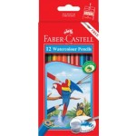 Faber-Castell Watercolour Pencils With Brush Pack 12 (Min Order Qty 2)