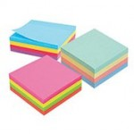 Marbig Sticky Notes 75x75mm  Pastel Cube (Min Order Qty 2)