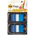 Marbig flags 25x44mm  Blue 2 pack (Min Order Qty 2)