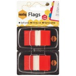 Marbig Flags 25x44mm  Red 2 pack (Min Order Qty 1)
