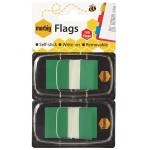 Marbig Flags 25x44mm  Green 2 pack (Min Order Qty 1)