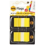 Marbig Flags 25x44mm  Yellow 2 pack (Min Order Qty 1)
