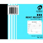 OLYMPIC 140886 RENT RECEIPT BOOK 619 CARBON DUPLICATE 100 LEAF 100X125MM