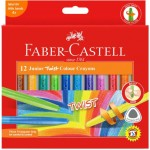 Faber-Castell Junior Crayons Triangular Twist Pack of 12