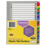 Marbig Dividers A-Z Tab Manilla Reinforced A5 Colours (Min Order Qty 1)