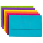 Marbig Slimpick Foolscap Document Wallet Pack of 10 Brights (min Order Qty 1)