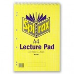 Spirax 905 Lecture Pad A4 140 Page (Min order Qty 5)