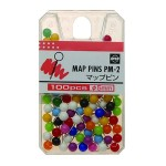 Map Pins Open Pack 100 Assorted Colours (Min Order Qty 2)