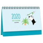 """MILFORD FLIP OVER DESK CALENDAR DOG & BIRD A5 MONTH TO VIEW 1 DESIGN 2020 DIARY """"Available August 2019"""""""