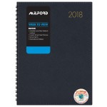 MILFORD BOSTON A4 WEEK TO VIEW NAVY BLUE 2018 DIARY