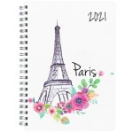 Milford 2021 Calendar Year Diary - Cities A5 Week to View Assorted (Min Order Qty 4)  **Available Late September 2020**