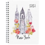 Milford 2021 Calendar Year Diary - Cities A5 Day to Page Assorted (Min Order Qty 4)  **Available Late September 2020**