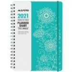 Milford 2021 Calendar Year Diary - Fascinate Slim 154x99mm Week to View Blue (Min Order Qty 2)  **Available Late September 2020**