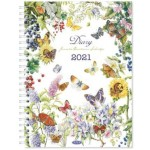 Milford 2021 Calendar Year Diary - J. Brinkman Flower Series 230x167mm Week to View Assorted (Min Order Qty 4)  **Available Late September 2020**
