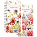 Milford J Brinkman Slim 170×80 Floral Note & Address Books Display of 20 (Min Order Qty 1)