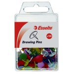 Esselte Drawing Pins Box 100 Assorted Colours (Min Order Qty 3)