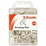 Esselte Drawing Pins Pk 100 White (Min order Qty 3)