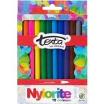 Texta Nylorite Colour Markers Pack of 12 (Min Order Qty 2)