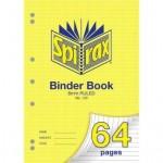 Spirax 120 Binder Book A4 64 page (Min order: 10)