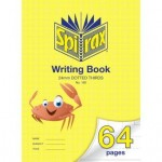 Spirax 160 Writing Book 335x240mm  64 page  24mm Dotted Thirds (Min order: 2)